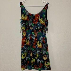 Alice + Olivia Floral Stretch Tank Draped Dress